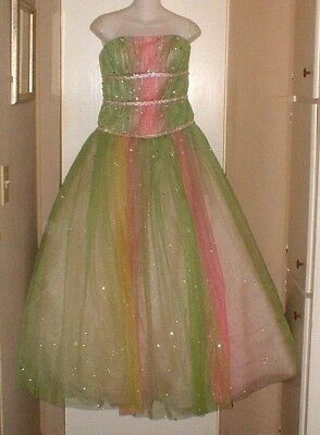 Alyce Designs Prom Tulle & Crystals Party Prom Pageant Dress Ballgown Size 8