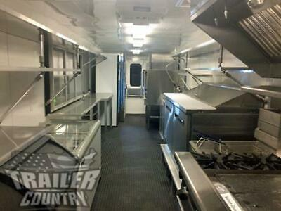 New 2019 8.5X32 Enclosed Mobile Concession Kitchen Food Vending Trailer 1/2 Bath