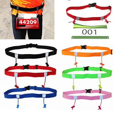 Women Unisex Running Waist Pack Cloth Bib Holder Race Number Belt Sports Tool