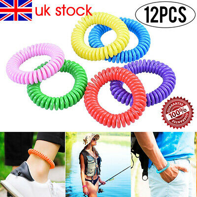 6/12 Pack Anti Mosquito Bug Insect Repellent Bracelets Bands Wrist KID Deet Free
