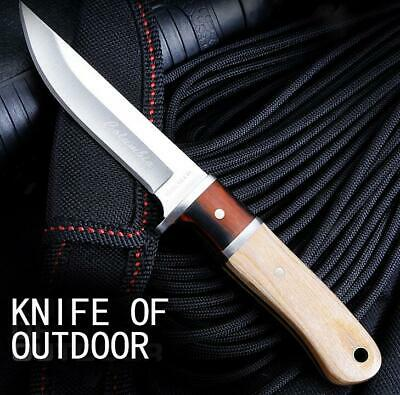 Knives Fixed Knife Steel 56HRC Hardness Outdoor Camping Tactical Nylon Sheath
