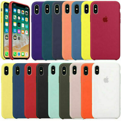 Original Funda para Apple iPhone X XS XR XS MAX carcasas de Silicona Genuina