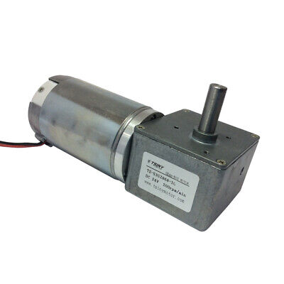 High Speed DC12/24V 100/200RPM Worm Geared Motor Gearbox Reducer W/ Self-locking