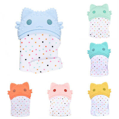 Fashion Design Baby Silicone Mitts Teething Mitten Molars Glove Wrapper Toys New