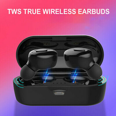 Wireless Headset TWS Earbuds In-ear USB Waterproof Earphone Sports Headphone US