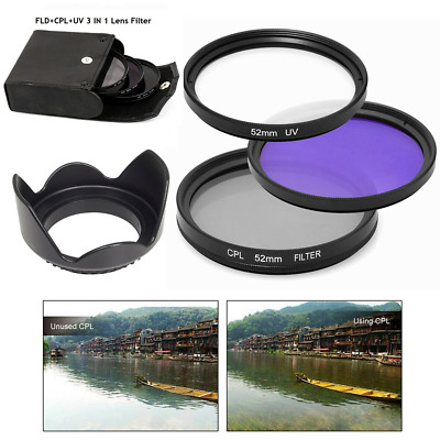 67mm UV Lens + CPL+ FLD Filter Set for Nikon Sony Pentax Camera Lens