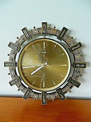 Vintage Retro Metamec Wall Clock KIENZLE MOVEMENT Fully Working