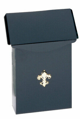 Gibraltar Wall Mount Mailbox Heavy Duty Steel Metal Crafted Vertical Black Box
