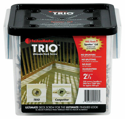 "Trio Screw 2.5""Tan 350Pc"