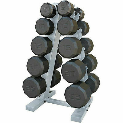 Cap Barbell 150 Pound Eco Dumbbell Weight Set With Rack Hex Cast Iron Total Work