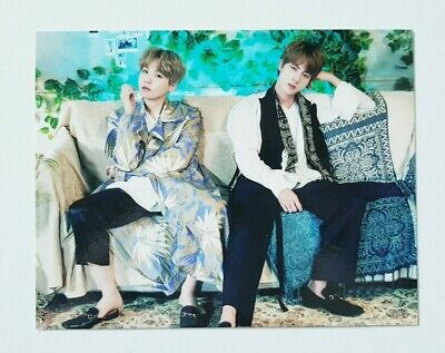 """BTS SUGA JIN Limited Postcard - NEW Official Fan Meeting 5TH MUSTER """"MAGIC SHOP"""""""