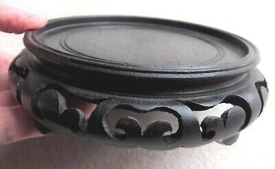 "4.75/"" d x 1.5/"" h Replacement Lid For Ginger Jar Chinese Solid Rosewood Lid"