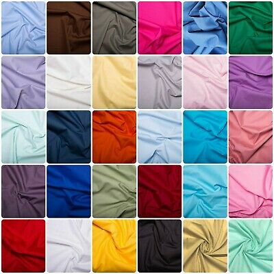 Plain Cotton Poplin, Sheeting, Dressmaking Patchwork fabric, material.