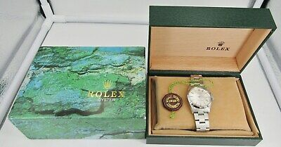 Rolex Stainless Steel Oyster Perpetual Date Watch Original Box- Refurbished