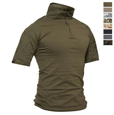 Tactical Men's Short Sleeve Army Combat T-Shirt Outdoor Training Military Shirts