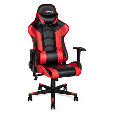 mfavour Gaming Chair Racing Style PC Office Leather Computer Chairs Ergonomic He