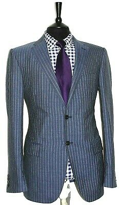 Luxury Mens Marks & Spencer Tailor Made Pinstripe Suit 42L W38 X L31