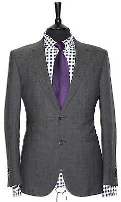 Luxury Mens Chester Barrie Savile Row Grey Suit 42S W36 X L29.5