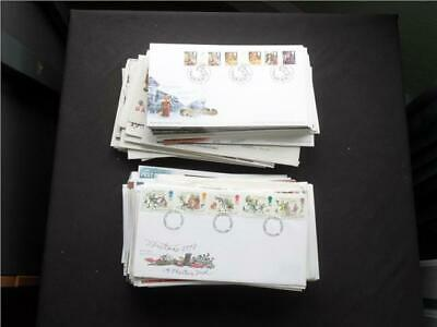 UPA884 NR 60 pics GB FIRST DAY COVERS COLLECTION - MANY MODERN !!