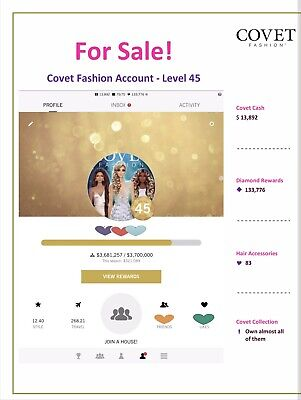 Covet Fashion Account for Sale