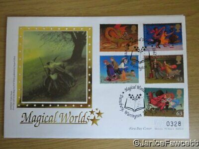 Magical Worlds First Day Cover - Silk - The Lord of the Rings - 1998 - Limited