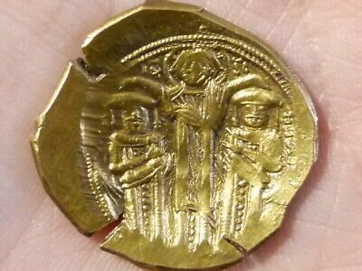 ANDRONICUS II and MICHAEL IX 1295-1320 ELECTRUM Byzantine Ancient GOLD Coin #Q34