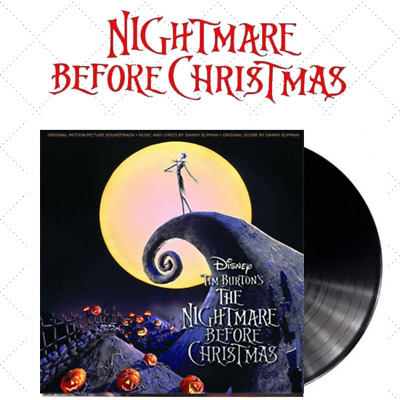 Danny Elfman Tim Burton's The Nightmare Before Christmas 2LP Double Vinyl