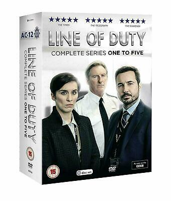 Line Of Duty Series 1-5 DVD Complete Boxset Season 1 2 3 4 5 New Region 2 UK