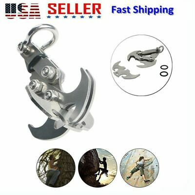 Foldable Gravity Grappling Hook Stainless Steel Climbing Survival Carabiner Claw