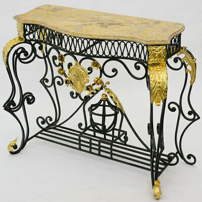 FRENCH LOUIS XV Wrought Iron and Gilt Metal CONSOLE TABLE SCHMIEDEEISEN KONSOLE