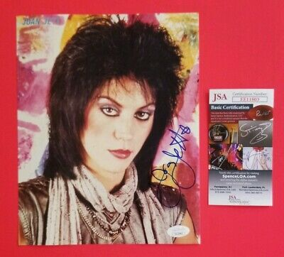 "Joan Jett Signed Young Vintage 8"" X 10"" Color Photo Certified With Jsa Coa"