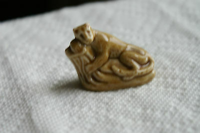 Old Vintage Small Mini Little Tiny Animal Figurine Wade England Tiger or Cougar