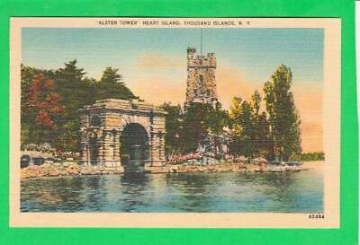 Postcard ~ Alster tower Hart Island thousand islands NY ~ Vintage 7036