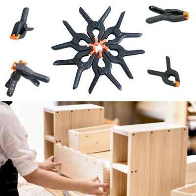 6 X Small Plastic 2 Inch Spring Loaded Clamps Clips Craft DIY Woodwork