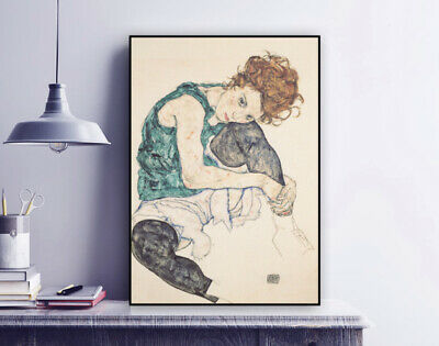 Print Egon Schiele Vienna Secession Seated Woman With Legs Drawn Up Ade