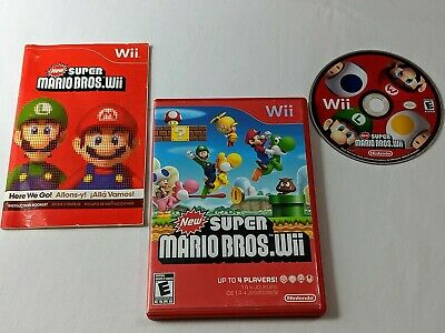 New Super Mario Bros. Wii Complete for Nintendo Wii **TESTED & WORKS GREAT**