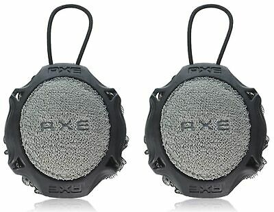 Axe (2-Pack) Personal Detailer 2-Sided Shower Tool Gray & Black