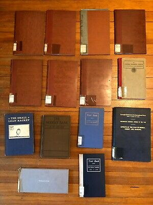 Antique lot BANKING books Women Bankers SMALL LOAN RACKET Fed Reserve great vtg