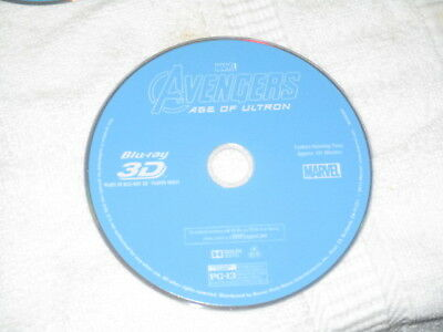 **3D Movie Blu Ray AVENGERS AGE OF ULTRON IRON MAN HULK MARVEL COMICS DISC ONLY