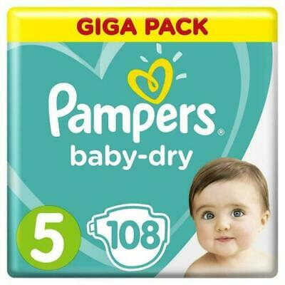 Pampers Baby Dry Nappies Size 5 Giga Pack of 108 Nappiesdiapers pamper