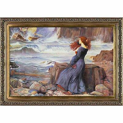 overstockArt Miranda The Tempest Framed Oil Reproduction of an Original Painting