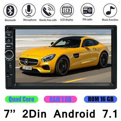 """2Din 4-Core Android 8.1 Car Radio Stereo MP5 Player 7"""" HD WIFI GPS  4G FM Unit"""