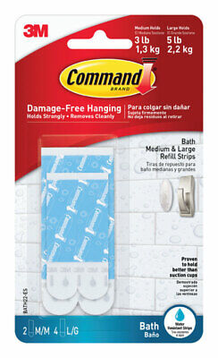 3M  Command  Assorted  Adhesive Strips  3-3/8 in. L 6 pk Foam
