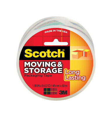 3M  1.88 in. W x 54.6 yd. L x 1.88 in. W x 54.6 yd. L Packaging Tape  Clear