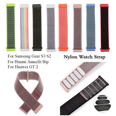 New Nylon Replacement Watch Strap For Samsung Gear S3 S2 Huami Amazfit Bip ~