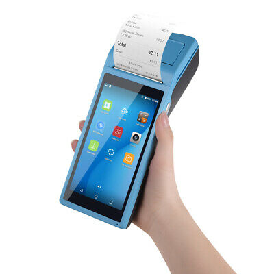 1X Android 6.0 smart Pos Terminal Bluetooth Receipt Printer With 5.5 Inch G0E6