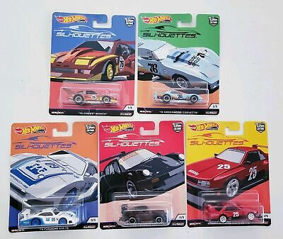 2019 Hot Wheels Premium Car Culture Silhouettes Complete Set of 5/New/NM+!!!