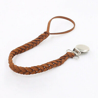 Fashion style dummy clip Anti-lost pacifier leather chain baby newborn Feeding
