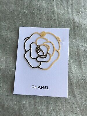 Chanel VIP GIFT Gold Camellia Book Mark