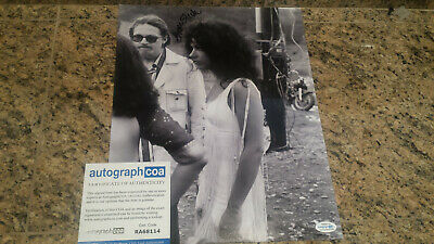 "* GRACE SLICK / Jefferson Airplane * signed ""Woodstock"" 11x14 photo / RACC ACOA"